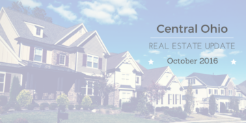 Central OH Real Estate Market Update Oct 2016