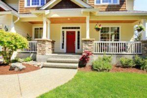 Columbus Ohio Home With Red Door