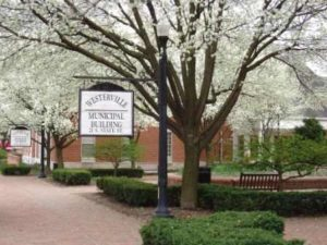 Westerville OH Municiple Building at Spring Time
