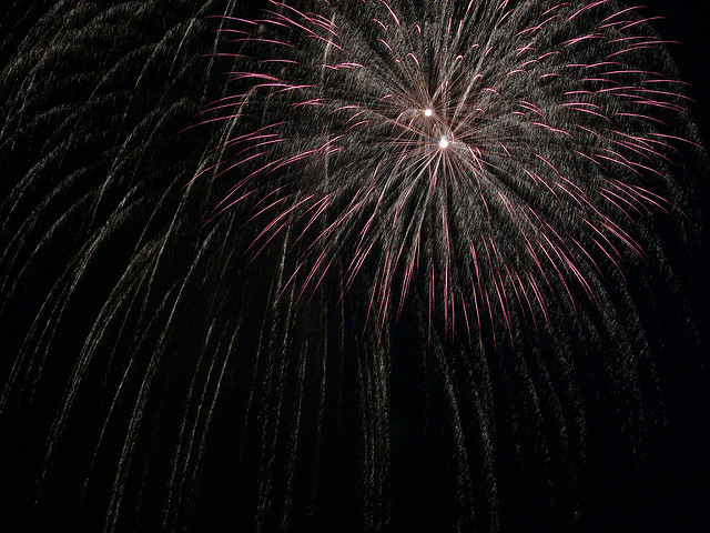 Fireworks light up the night in Worthington OH