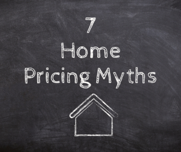 "Chalkboard saying ""7 Home Pricing Myths"""