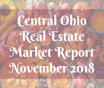 "Thanksgiving Spread background with title ""Central Ohio Real Estate Market Report November 2018"""