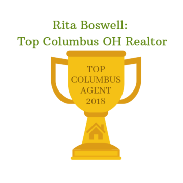 Gold Trophy reads Rita Boswell: Top Columbus OH Realtor
